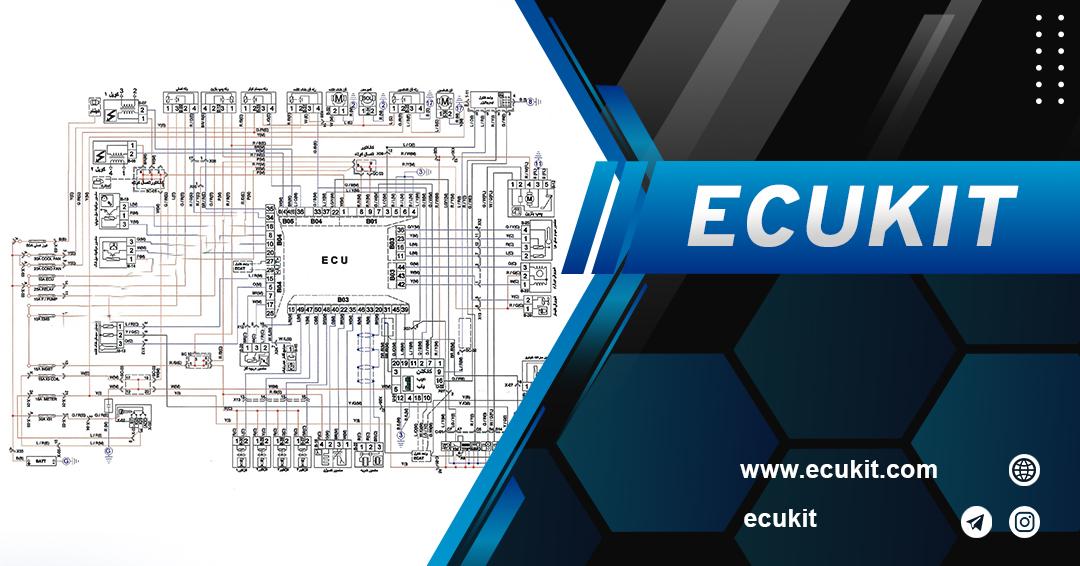 نقشه  راه انداز فن سمند  سورن   EF7