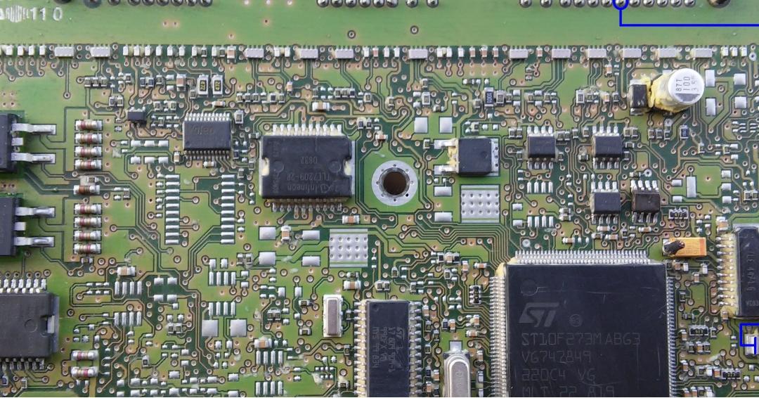 راهنمای تعمیر ecu j34 قسمت منفی رله اول و ic99834