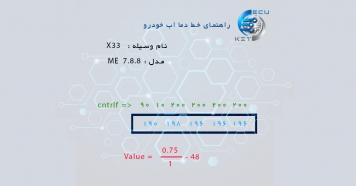 راهنمای کاهش دمای آب X33  MVM