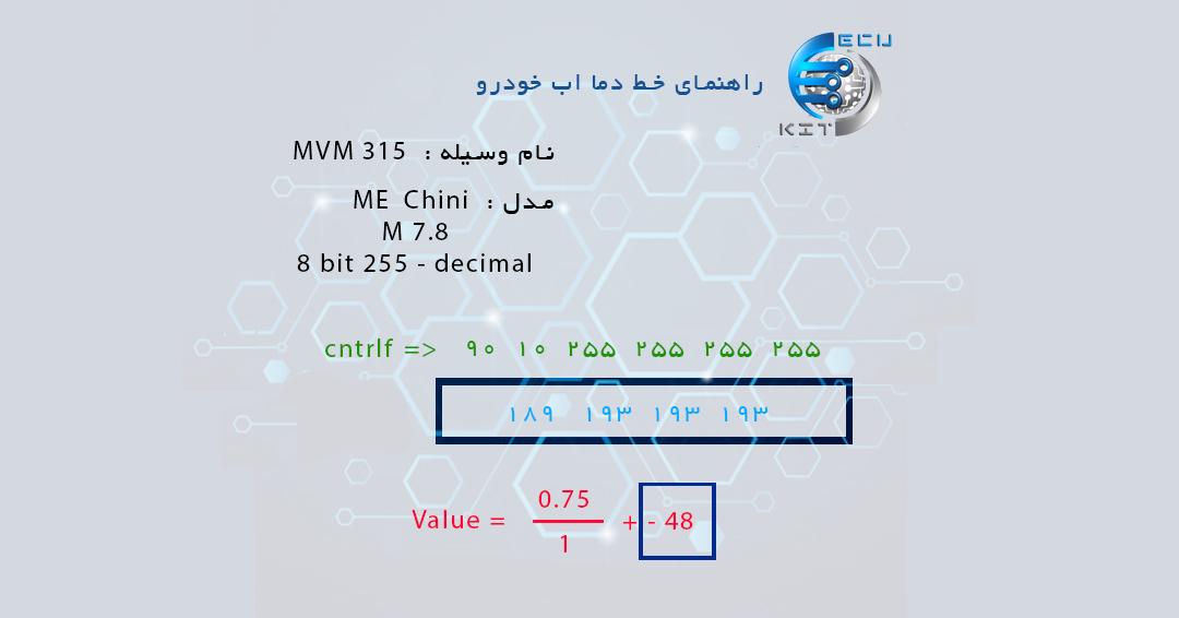 راهنمای کاهش دمای آب MVM 315